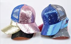 Your place to buy and sell all things handmade Fashion Caps, Cotton Hat, Snapback Cap, Summer Girls, Bling Bling, Sequins, Mesh, Candy, Wool