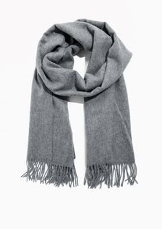 Other Stories image 2 of Oversized Wool Scarf in Grey