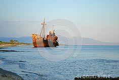 It's a shipwreck in Greece..