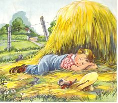 mother goose illustrations | Little Boy Blue Mother Goose Nursery Rhymes Illustration by Eulalie