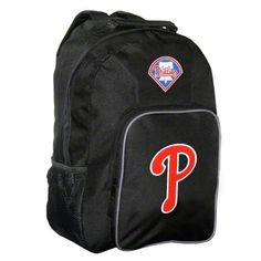 Philadelphia Phillies Black Youth Southpaw Backpack by Concept 1. $16.99. Let your youngster show some Philadelphia Phillies love while in the classroom with this durable nylon backpack. Features embroidery and felt applique team logos.