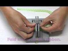 ▶ Mini Bowdabra Bow Making with One Sided Printed Ribbon - YouTube
