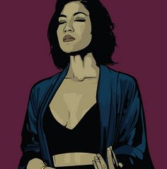 Jhene Aiko | Art by Samona Lena info@scaredofmonsters.com http://scaredofmonsters.com http://instagram.com/ho3sz http://www.scaredofmonsters.tumblr.com/ https://society6.com/scaredofmonsters http://nabaroo.com/Samona/nabs