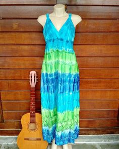 Vestido longo tiedye  Por R$7990  Mais modelos no Whatsapp: 13982166299