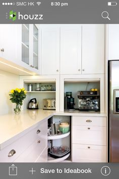 Kitchen - appliance storage