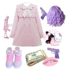 """""""pink pink"""" by alicevandyne on Polyvore featuring Hello Kitty and RIFLE"""