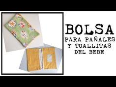Bolsa para pañales y toallitas del bebe. Tutorial. - YouTube Purses And Bags, Sewing, Floral, Youtube, Diy, Ideas, Craft, Baby Things, Baby Sewing