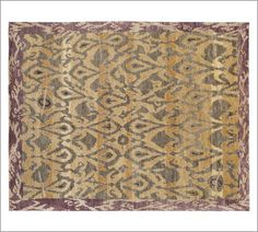 Deren Ikat Hand-Knotted Rug | Pottery Barn