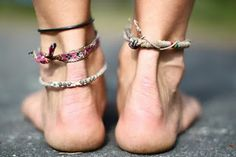 summer ankle bracelets <3