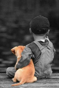 *Boy and his Puppy (Touch of Color)