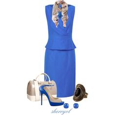 Peplum Dress, Ombre Bag And Statement Ring