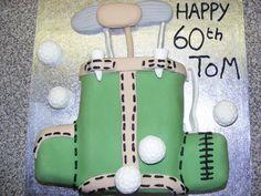 Golf caddy cake