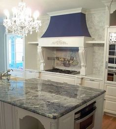blue bahia granite, kitchen island, blue kitchen, blue and white kitchen Granite Kitchen, Buy Kitchen, Kitchen Countertops, Kitchen Ideas, Kitchen Island, Hidden Kitchen, Kitchen Hoods, Kitchen Living, Room Kitchen