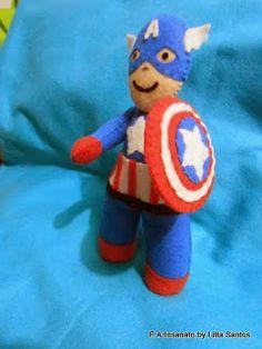 Bonecos Os Vingadores (Thor, Hulk e Capitão América)  by Litta Santos