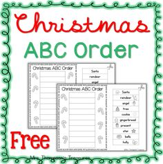Practice alphabetical order with this simple cut and paste activity using Christmas words! Comes in versions with and without picture support.