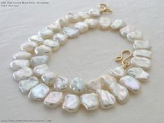 High Lustre White Keshi Freshwater Pearl Necklace