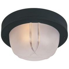 laundry? Hampton Bay Flushmount 2-Ligth Outdoor 13 in. Black Lantern-HD798861 at The Home Depot
