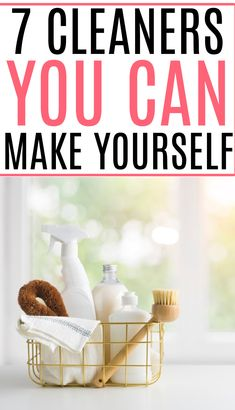Ditch the chemical cleaners and check out these 7 amazing cleaners you can make yourself. They work great and will save you money. All Natural Cleaning Products, Homemade Cleaning Products, Cleaning Recipes, House Cleaning Tips, Cleaning Hacks, Cleaning Schedules, Kitchen Cleaning, Diy Cleaners, Cleaners Homemade