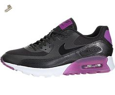 Nike Women's Air Max 90 Ultra Essential Black/Black/Purple Dusk/Mlbrry Running Shoe 7.5 Women US - Nike sneakers for women (*Amazon Partner-Link)