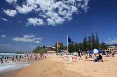 Austinmer Beach is one of Wollongong's most popular beaches, located just 20 minutes north of the central business district. Austinmer is well set u Norfolk Island, Australia Beach, Central Business District, Down South, Places Of Interest, West Coast, Beaches, Summertime, Dolores Park