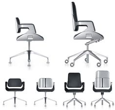 Small conference chair (left) and M's Silver Office Swivel Chair (right)