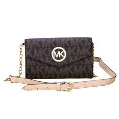 #CelebrateWith #MichaelKors fashion, beautiful, Michael Kors Fulton Flap Messenger Medium Coffee Crossbody Bags