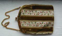 Vintage Bienen Davis floral print purse