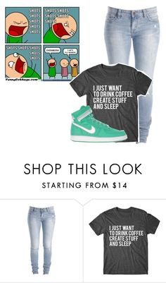 """flu season"" by bands-are-all-i-need ❤ liked on Polyvore featuring CO, NIKE and 100daysofs3bby"