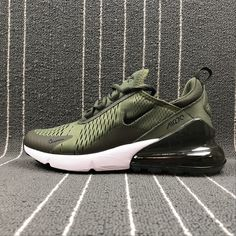 size 40 c1d9f 982fe Cheap 2018 Nike Air Max 270 Latest Styles Running Shoes 2018 Flyknit Green  White AH8050-
