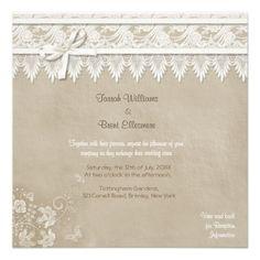 2,05€ nochmal den gesamten Shop angucken  Vintage Schmetterlings-Spitze-Hochzeits-Einladung