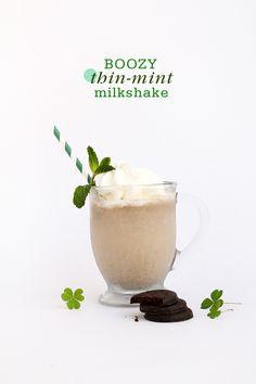 Boozy Thin Mint Milkshake Boozy Thin Mint Milkshake - this will probs bring everyone to your yard.