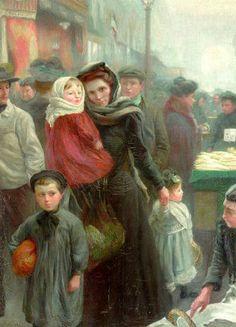 Une mère et ses trois enfants ~ Jean Sala (1895 – 1986,Spanish)