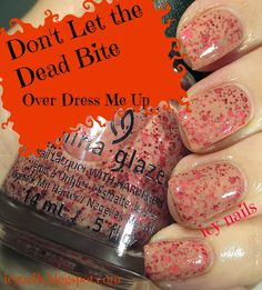Icy Nails: China Glaze Apocalypse of Colour Collection for Hallowe'en, 2014: Swatches, Photographs and Review. Don't Let the Dead Bite over Dress Me Up.