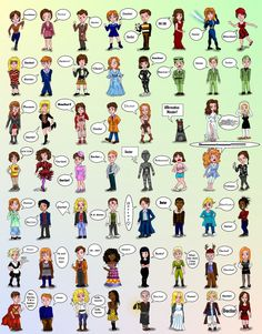 ALL of the Doctors companions! I wish that they were labeled with their names so I didn't have to guess some of them. Some are so obvious...but there are others that I'm just not sure...still cool!