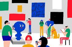 It's Nice That | Irrepressibly joyful illustrations of an art show by Antti Kalevi