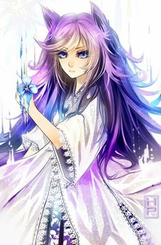 -Shows you a small scroll- My name is Lily, I am an animal by night and a human by day. I usually doesn't talk and won't say my age, but when I do talk, people think my voice is that of an angels.. -takes the scroll away and swishes tail- ...
