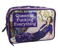 """Makeup Bag """"Queen of Fucking Everything"""""""
