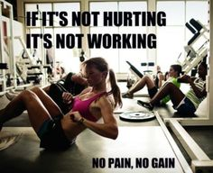 Why go to the gym if you're not going to work and sweat!!??