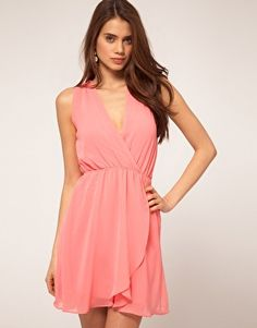 Enlarge TFNC Chiffon Dress With Wrap Front... Good style for breast feeding. Just sayin'!