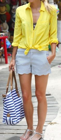 When I lose 25 pounds and return to a size 4 scalloped shorts are going to be my first purchase. Love them. By May they will be mine!