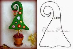 ARTE COM QUIANE - Paps e Moldes de Artesanato : 2 moldes de árvore de natal pra você fazer também #artesanato #decoração #ideias #natal