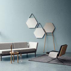 Gris bleu | grey Blue walls | Vora wall mirror