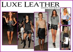 what do you wear with a leather skirt | ... Inspiration: CELEB TREND: Leather Shorts and Skirts -- How to Wear it