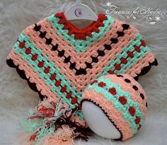 Check out this item in my Etsy shop https://www.etsy.com/listing/542463933/crochet-baby-rainbow-poncho-with-hat