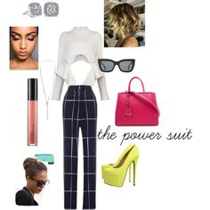 """""""The Power Suit"""" by shellishells on Polyvore"""