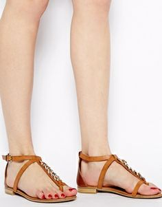 a1183477682c Faith Gold Sole Brown Flat Sandals Brown Flats