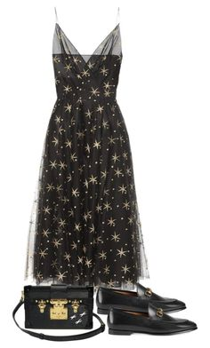 """""""Untitled #5260"""" by theeuropeancloset on Polyvore featuring Valentino, Gucci and Louis Vuitton"""
