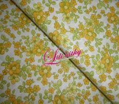 Bavlněná látka Žlutolimetkové květy Tableware, Scrappy Quilts, Dinnerware, Tablewares, Dishes, Place Settings