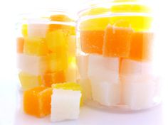 Candy corn please by Krysthle Poitras on Etsy Halloween Candy, Halloween Decorations, Sugar Scrub Cubes, Homemade Cosmetics, Dry Hands, Perfume Oils, Candy Corn, Scrubs, Treats