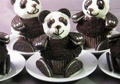 Cute Panda Cupcakes